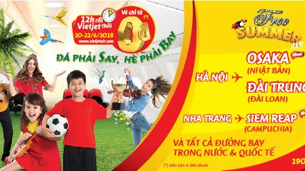Đá Phải Say, Hè Phải Bay Cùng Vietjet (20-21-22/06)