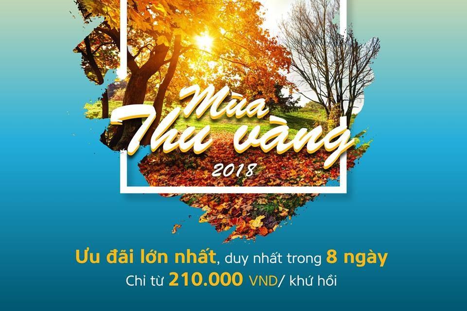 15-22/08/2018 Mùa thu vàng cùng Vietnamairlines