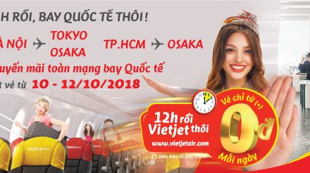 10-12/10/2018 Vé Vietjet 0 đồng