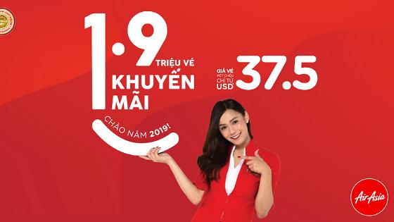 AirAsia mở bán 1.9 triệu vé khuyến mãi chào năm mới 2019