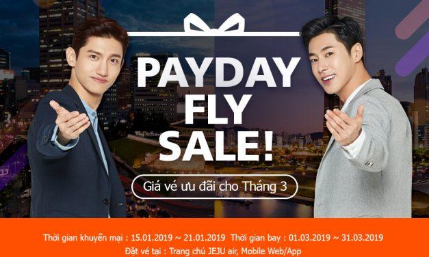PAYDAY FLY SALE! – Ưu đãi vé máy bay tháng 3 cùng JEJU Air