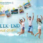 Vietnamairlines tung chương trình Weekend sale đầu năm mới