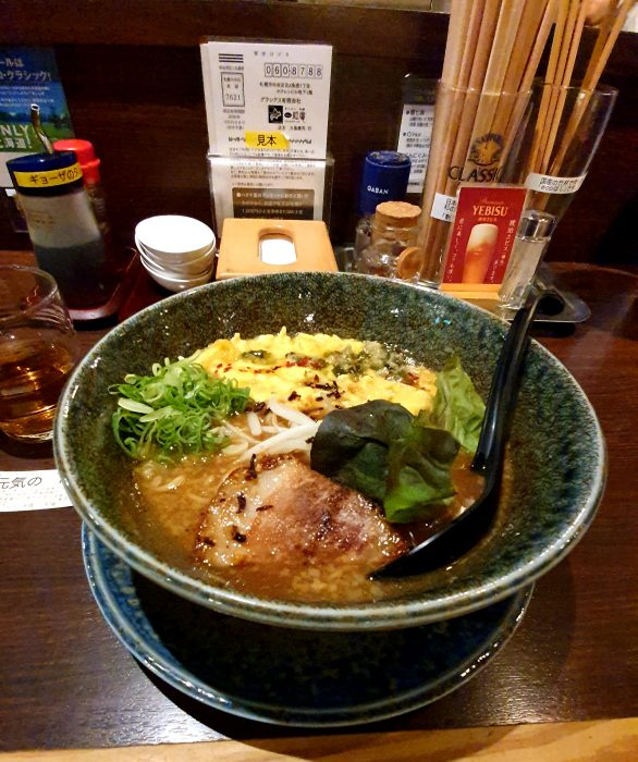 Mì miso ở nhà hàng Ichiryuan Sapporo